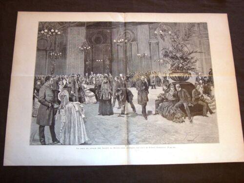 La sala da gioco del Casinò o Casino di Montecarlo nel 1886 Disegno E.Ximenes