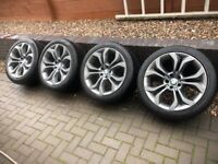 """BMW X5 (E70) 20"""" WHEELS WITH PIRELLI SCORPION WINTER TYRES 315 REARS 275 FRONTS"""