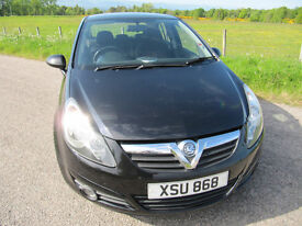 Vauxhall Corsa SXi 1.2 16V 5 Dr in Black Years MOT VGC £3175 ono 2008 Low Miles.