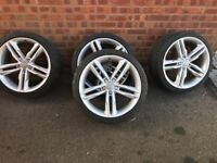 Audi s5 Alloy wheels and tyres a5 s3 s4