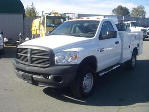 2009 Dodge Ram 3500 HD Regular Cab Diesel with Service Box & Lif