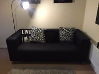 Black 2 seat sofa (bought in February) - for colection only