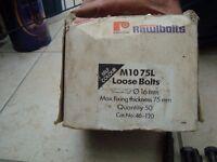RAWL PLUG ANCHLOR BOLTS. 6 INCHES LONG. BOX OF 40
