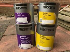 Sikkens olive green primer & paint (ideal for log cabin / shed)