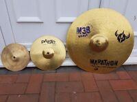 3 x cymbals – bundle