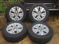 4x VW Transporter T5 Alloy Wheels