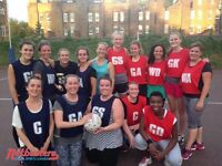 Social netball league running in Camden