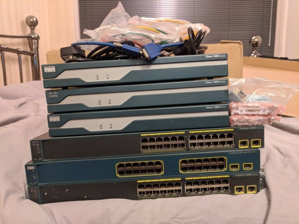 Cisco Lab Complete With Cables Ccna Ccie In Newcastle Switch Wsc296024ttl