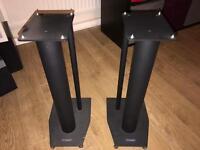 Mission Stance Black Speaker stands. Pair
