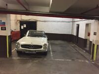 Secure underground parking space in a private residential building