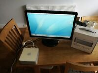 Mac mini and monitor