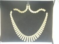 9CT YELLOW GOLD UNUSUAL FRINGE-STYLE NECKLACE