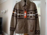 Superdry Wool Mix Zipped Cardigan/Jacket - BNWT