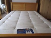 Verona Natural Ash Solid wood bed and Silentnight Miracoil Deluxe Matress