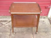 Remploy 2 Tier Tea or Drinks Trolley Side Table