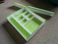 IKEA organiser tray, under bed storage, dividers, foldable, storage x2