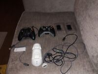 Xbox 360 - 2xcontrollers and accessories