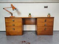 Stag Cantata Mid Century Medium Teak Retro Dressing Table / Desk / Sideboard #401