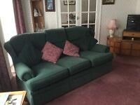Green 3-piece suite