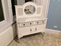 Shabby chic antique side board / dresser