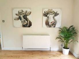 Oil painting cow canvas