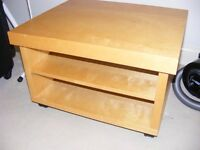 TV stand - beech wood, strong and very good quality - BARGAIN!