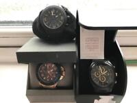 Guess , armani exchange and fossil watch