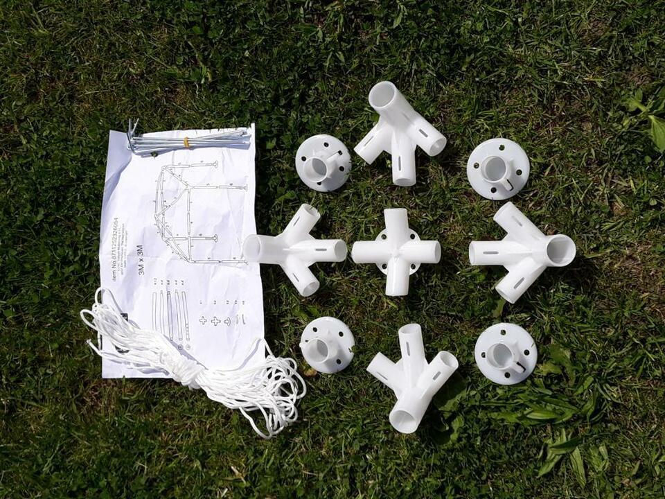 Pavillon 3x3 m Partyzelt Garten Zelt weiß Festival Camping Plane in Hage