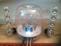 Harman Kardon Soundsticks III wired desktop computer speakers with subwoofer