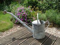 VINTAGE METAL/GALVANISED WATERING CAN 2 GALLON