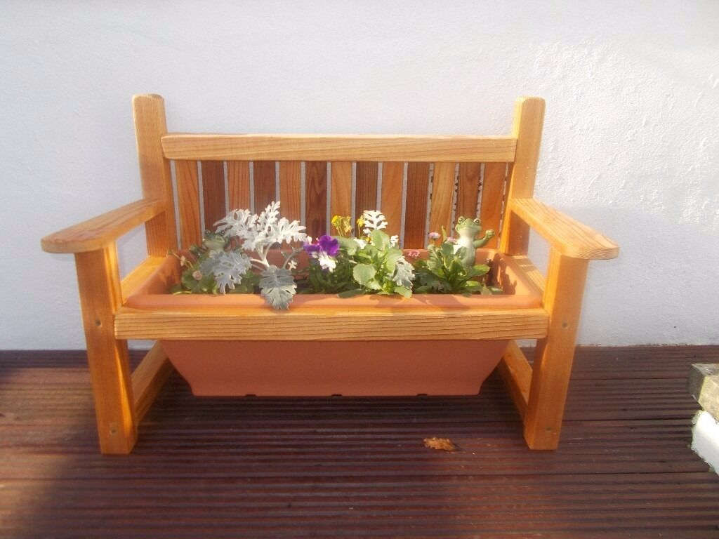 Mini Bench Planter Ideal Christmas Gift Garden 68 Cm