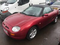R reg mgf 1.8 tf convertible for spare only£395