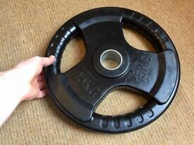 1 x 15kg Olympic Plate