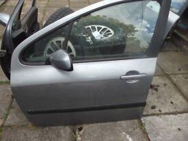 Doors Boot & Bonnet Off 2001 Silver Peugeot 307 Car Parts