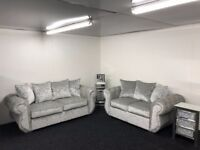 Chesterfield 3+2 Sofa Crushed Velvet Sofa - Fast & Free 2 Man delivery within 50 miles - Call/txt