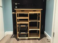 Pine kitchen trolley from Argos
