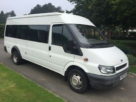 Ford transit 17 seater minibus low millage long test