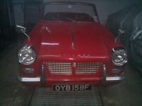 Historic 1967 Triumph Herald Convertible ( Restoration Project )