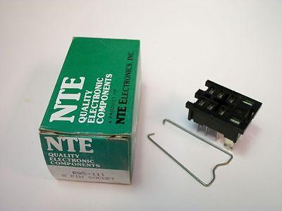 Nte Relay Socket R95-111 - 8pin Midget Blade Socket - Panel Mount - Solder Term