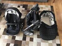 Travel System Pram Stroller - Black