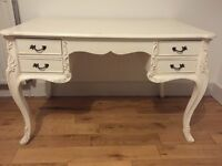 Large Sweet Pea and Willow vintage shabby chic solid wood writing desk