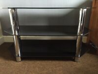 Black Glass TV stand 32""