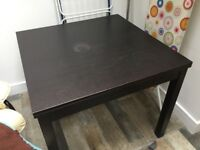 IKEA BJURSTA brown black EXTENDABLE dining table