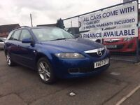 Mazda 6 Estate Diesel 2007 Blue, Sale/Finance Forthcarz NO DEPOSIT REQUIRED