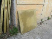 13 Buff paving slabs