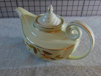 Autumn Leaf Decorations (Hall Superior USA Jewel Tea Autumn Leaf Aladdin Teapot w/ infuser w/ gold)