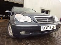"03 MERCEDES BENZ ""C"" CLASS 1.8 AUTOMATIC,MOT APRIL 017,PART HISTORY,2 OWNERS,2 KEYS,VERY LOW MILEAGE"