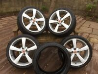 Set of 4 Wolfrace alloys with tyres