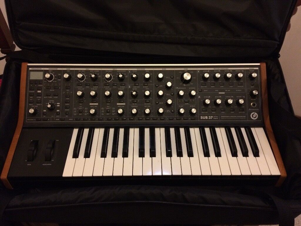 Moog Sub 37 Synthesiser and Gig Bag