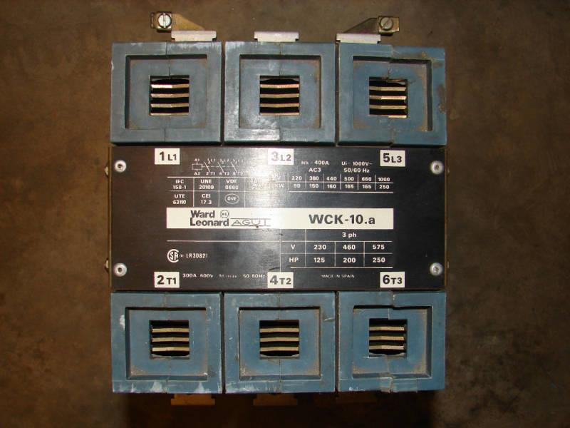 WARD LEONARD AGUT WCK-10.A CONTACTOR 300A 600V 3P ***NNB***